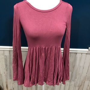 AEO Soft & Sexy Boho Bell Sleeve Backless Top Lace